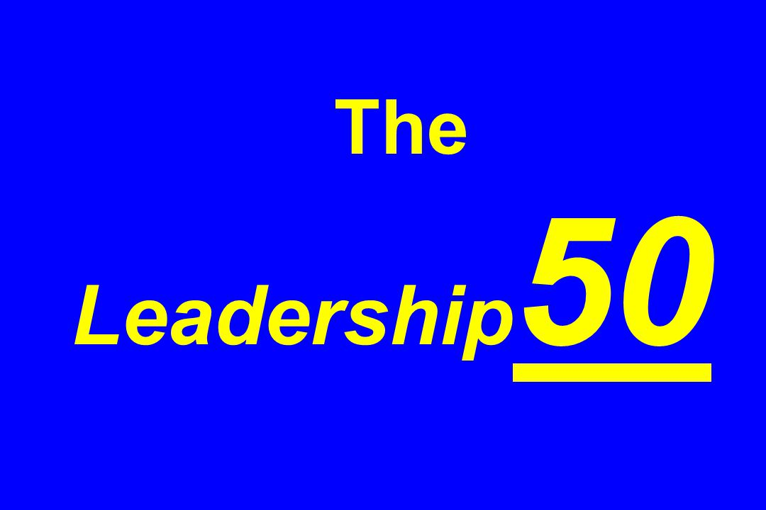 II. The Leadership Types.