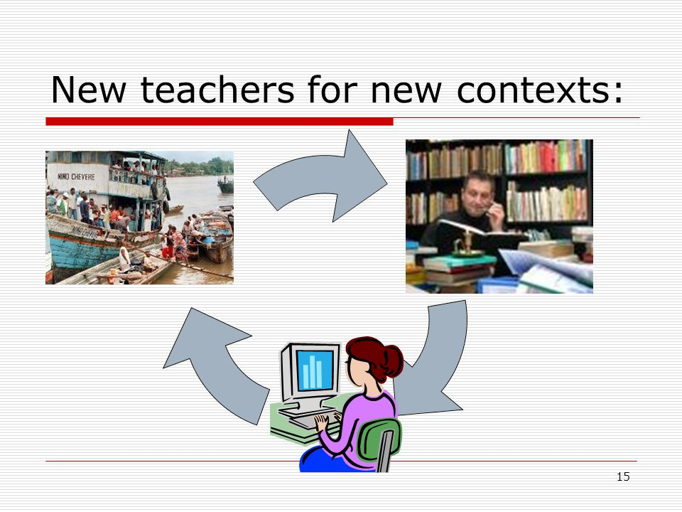 15 New teachers for new contexts: