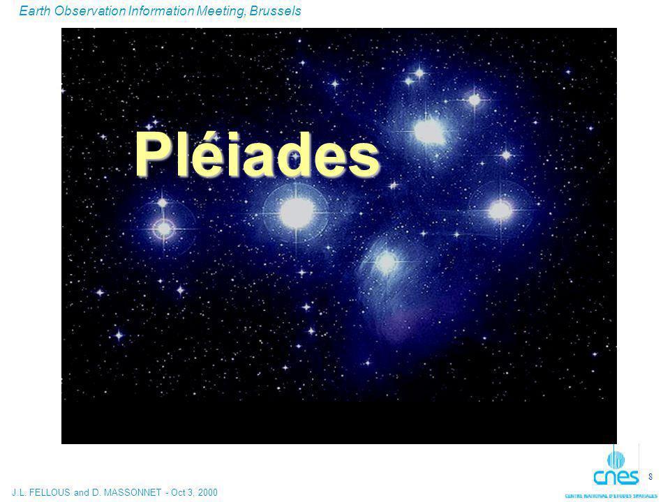 J.L. FELLOUS and D. MASSONNET - Oct 3, 2000 Earth Observation Information Meeting, Brussels 8 Pléiades