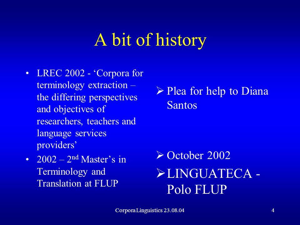 Corpora Linguistics 23.08.0415 Terminology Prescription or Description.