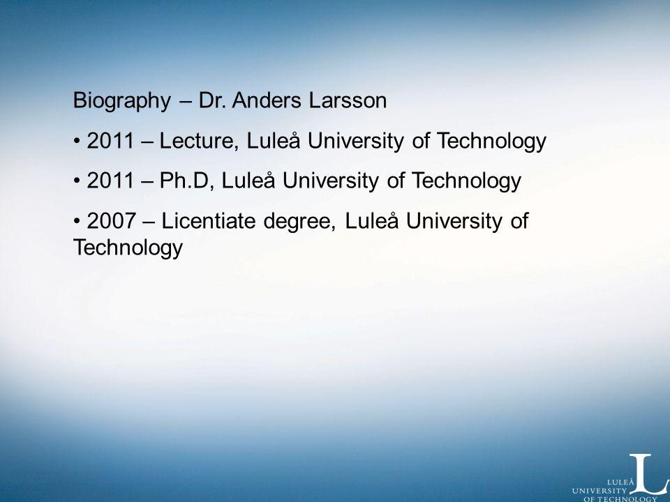 Biography – Dr.