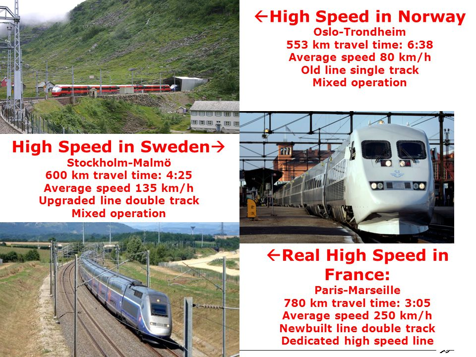 Railway Group KTH Railway Group Center for research and education in Railway technology - Railway development in Sweden When is Real High-Speed Lines possible in Scandinavia.