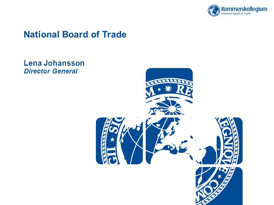 Varuexport till Sveriges fem största exportländer Källa: SCB