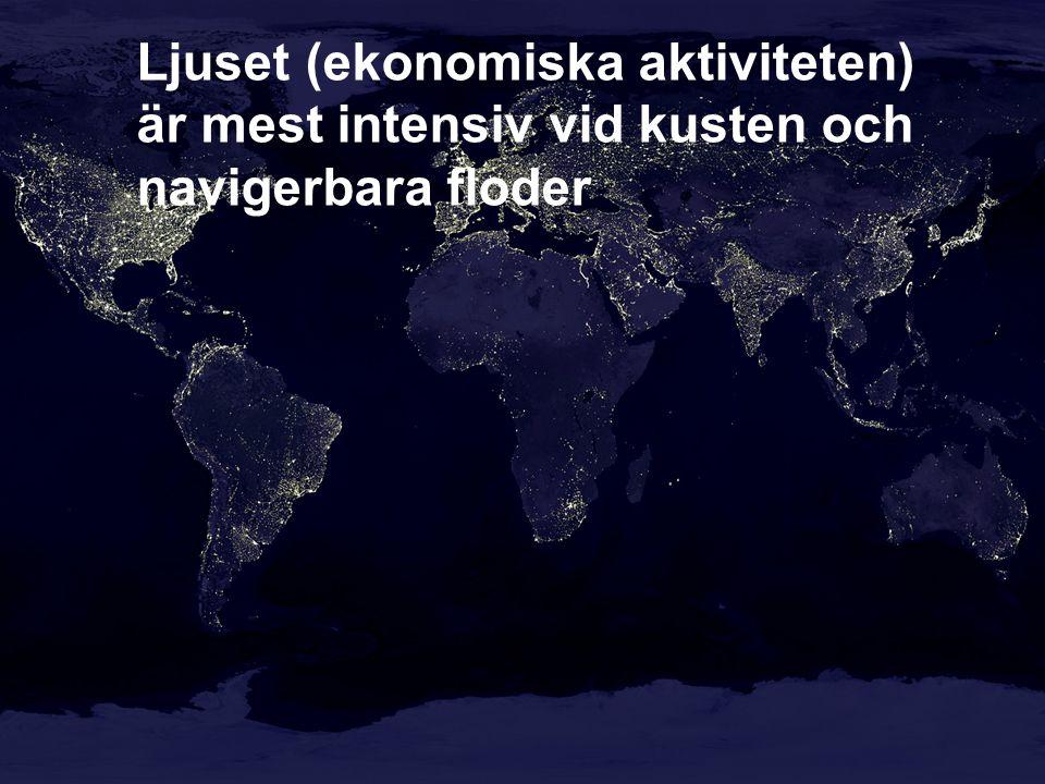 Var ljusnar det och varför.- Framförallt i länder som integrerar sig i världsekonomin, t.ex.