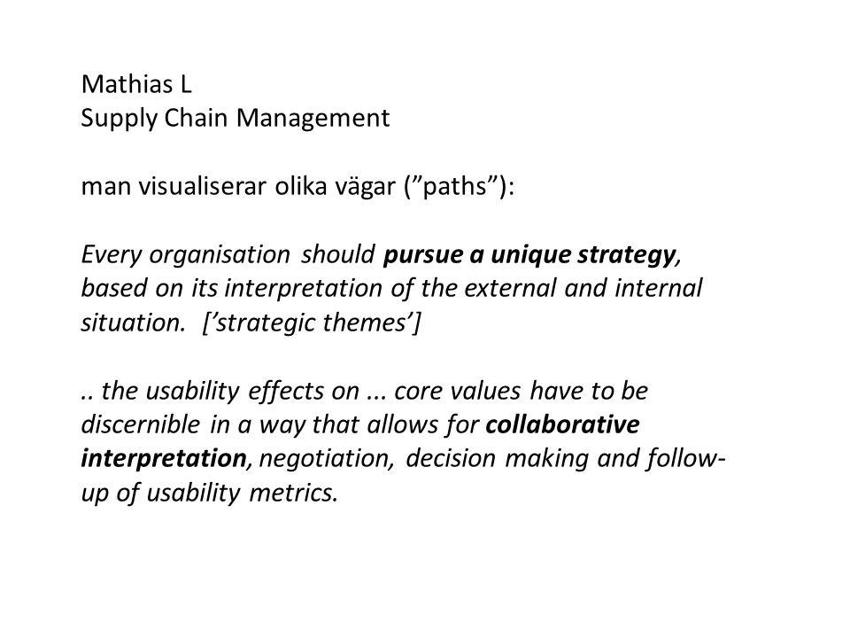 Hans-Erik Täpp projektbaserade organisationer (PBO) orsak-verkan-samband (strategiska teman) för strategic alignment Den färdiga kartan kan användas för att kommunicera strategier och deras inneboende logik.
