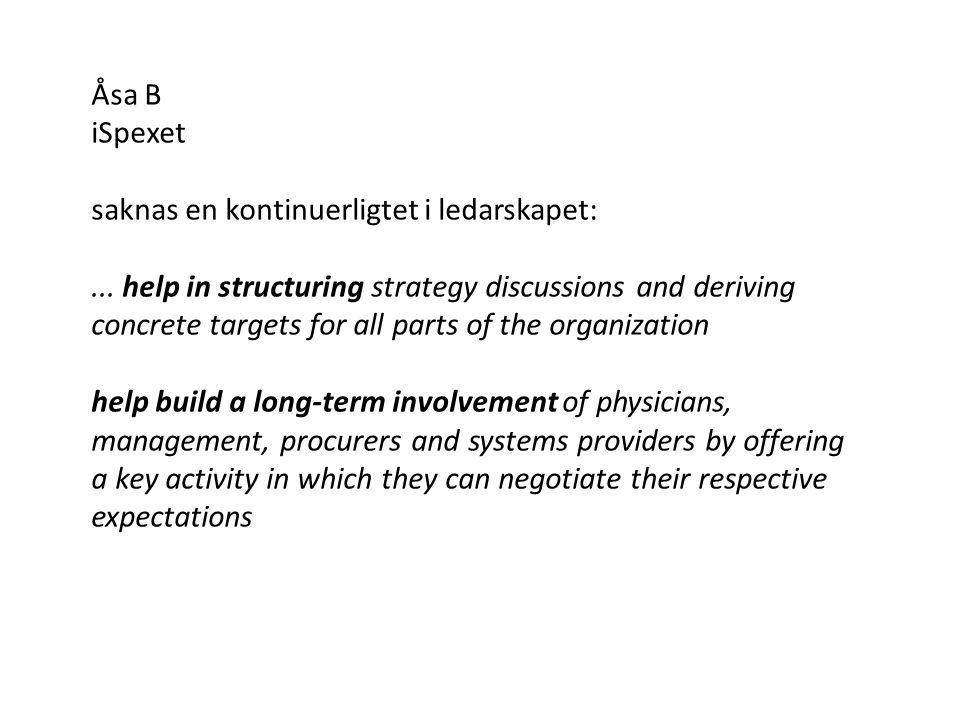 Claes T styrning i storföretag vilka processer som man skall arbeta med när kundernas aspekter har identifierats kommunicera idéer om orsak &verkan samt prioriteringar åskådliggöra synergieffekter med övriga avdelningar hitta samband och synergier i de lägre perspektiven