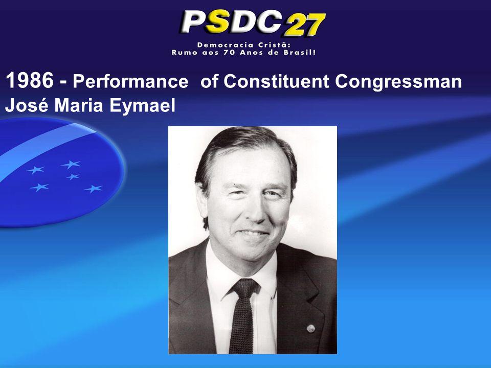 1986 - Performance of Constituent Congressman José Maria Eymael