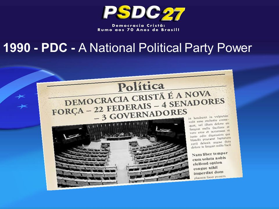 1990 - PDC - A National Political Party Power