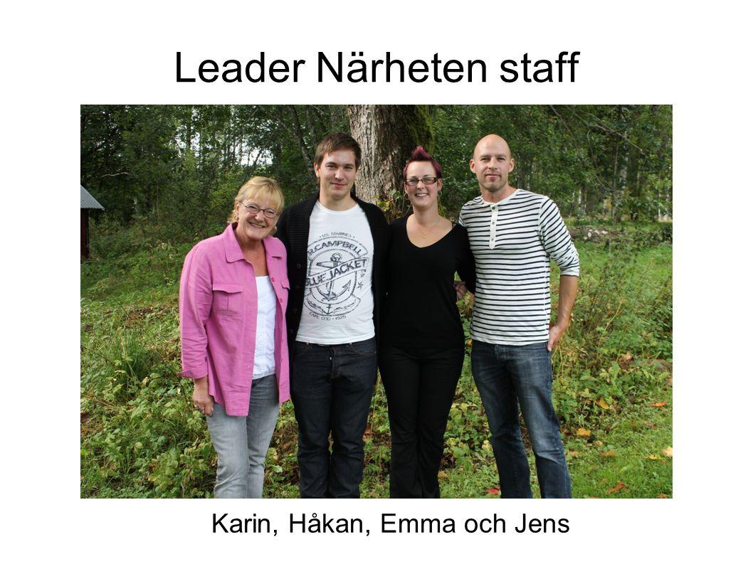 Leader Närheten staff Emma, Karin, Håkan Karin, Håkan, Emma och Jens