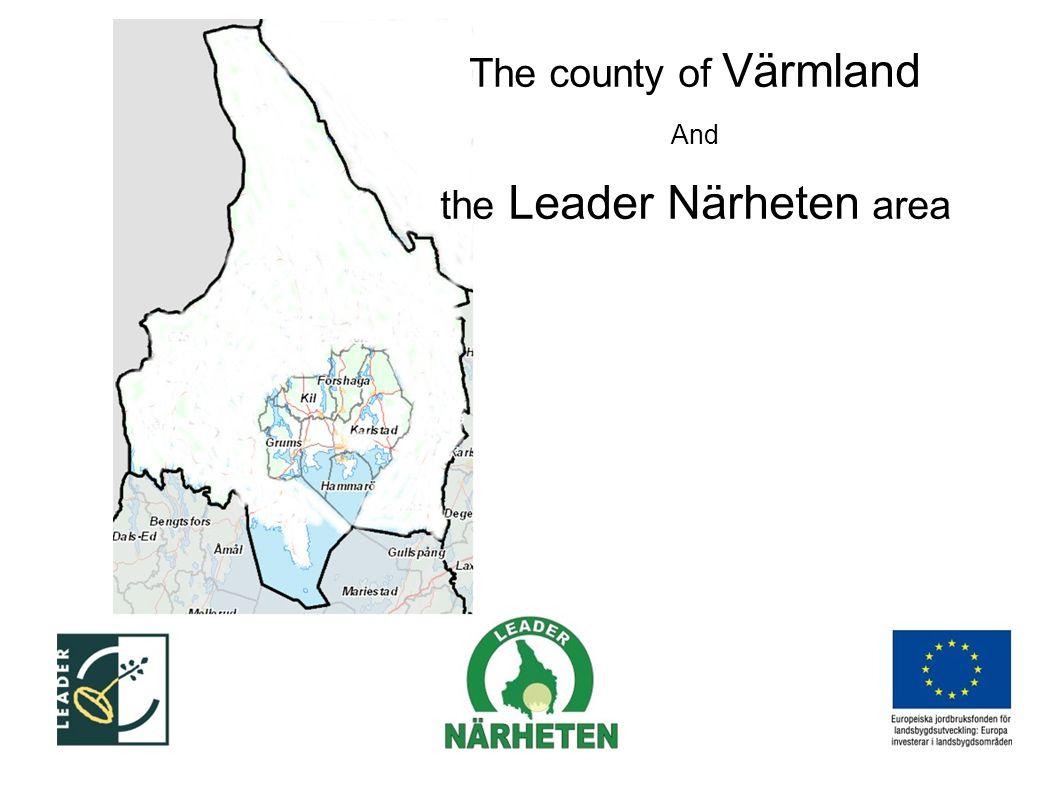 The county of Värmland And the Leader Närheten area