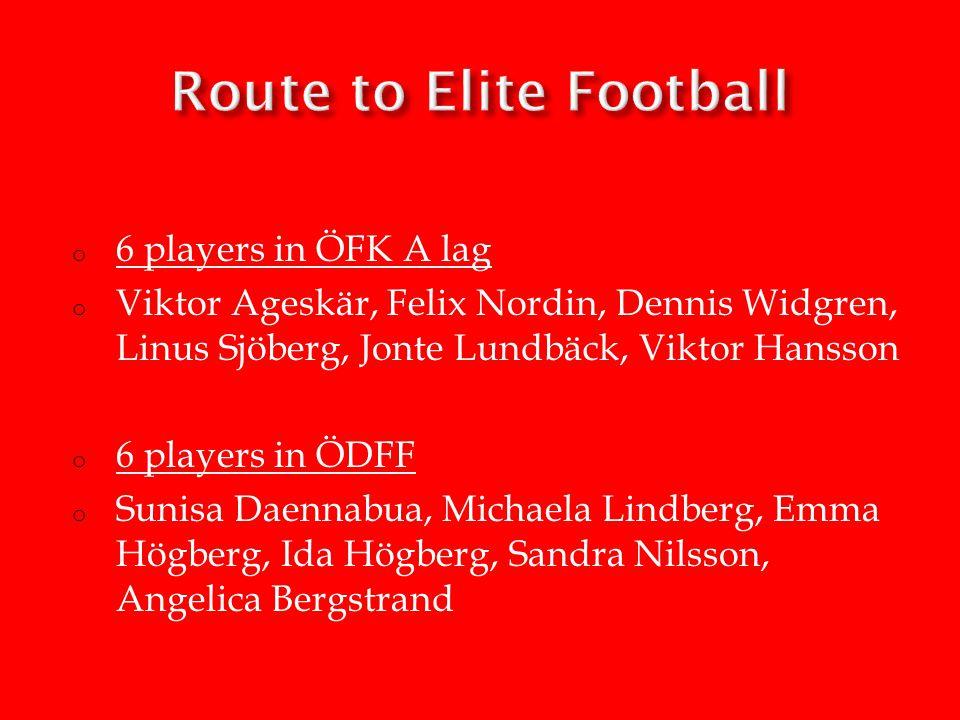 o 6 players in ÖFK A lag o Viktor Ageskär, Felix Nordin, Dennis Widgren, Linus Sjöberg, Jonte Lundbäck, Viktor Hansson o 6 players in ÖDFF o Sunisa Daennabua, Michaela Lindberg, Emma Högberg, Ida Högberg, Sandra Nilsson, Angelica Bergstrand