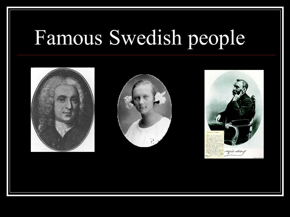 Famous Swedish people
