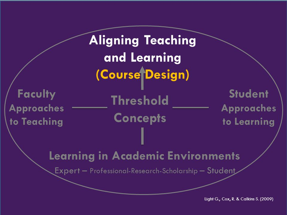 Aligning Teaching and Learning (Course Design) Learning in Academic Environments Expert – Professional-Research-Scholarship – Student Faculty Approach
