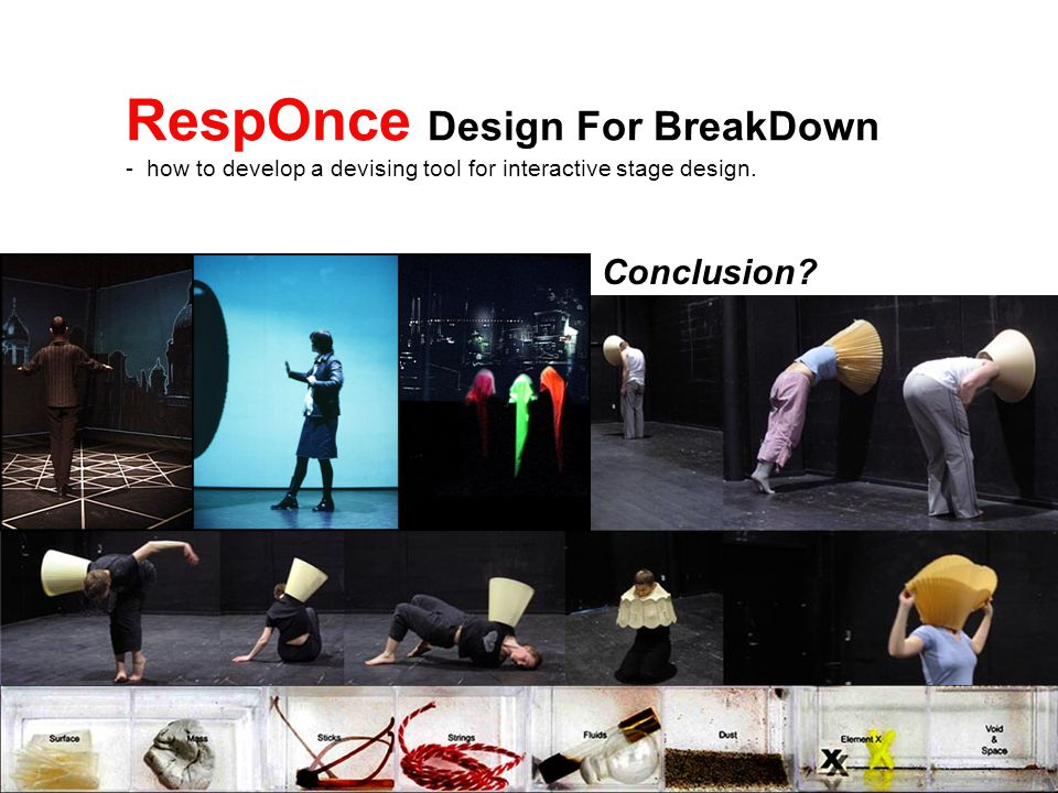 RespOnce Design For BreakDown - how to develop a devising tool for interactive stage design.
