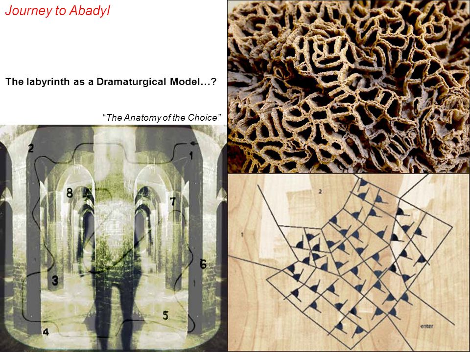The labyrinth as a Dramaturgical Model…? Journey to Abadyl The Anatomy of the Choice
