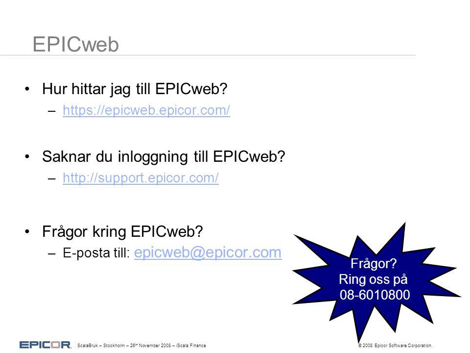 EPICweb Hur hittar jag till EPICweb.