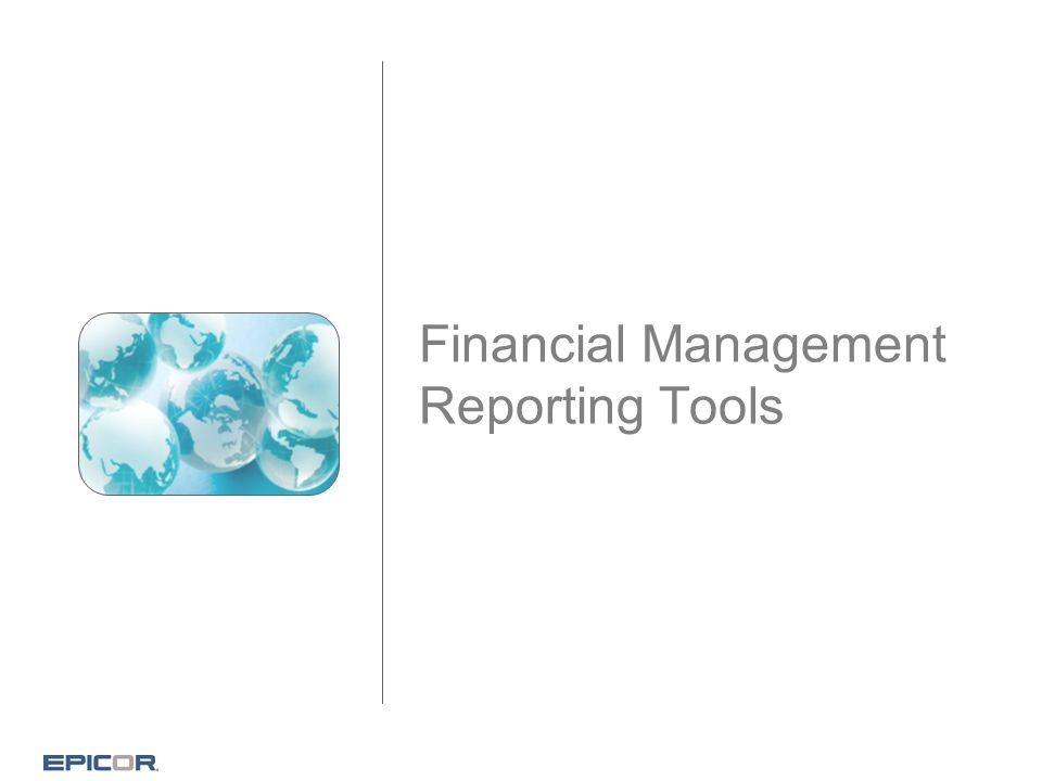 Financial Management Reporting Tools