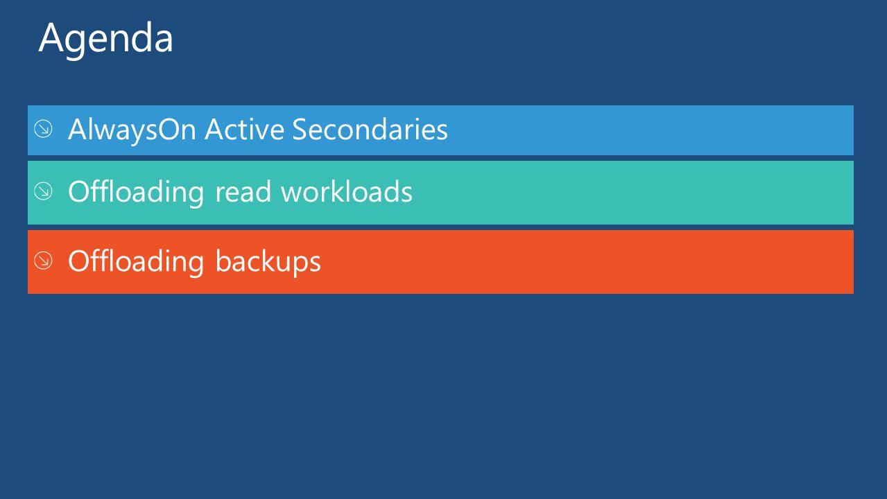 Offloading read workloads Offloading backups