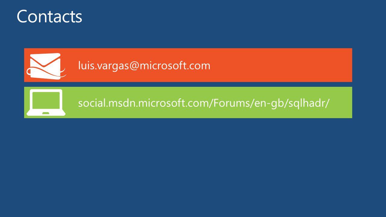 luis.vargas@microsoft.com social.msdn.microsoft.com/Forums/en-gb/sqlhadr/