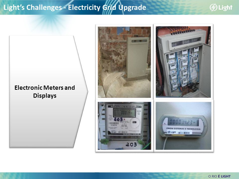 Light's Challenges - Electricity Grid Upgrade Electronic Meters and Displays