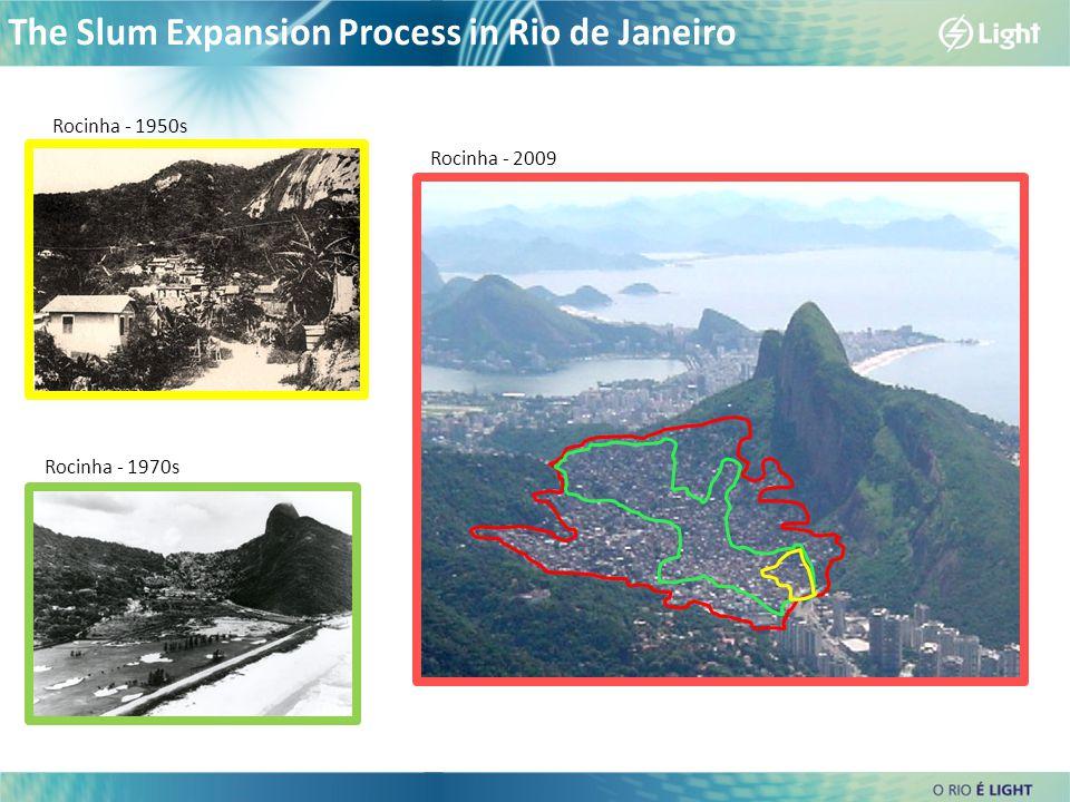 Rocinha - 1950s Rocinha - 1970s Rocinha - 2009