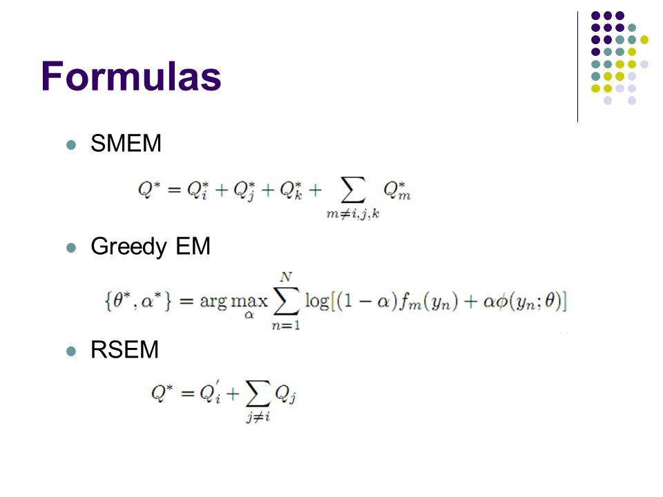 Formulas SMEM Greedy EM RSEM