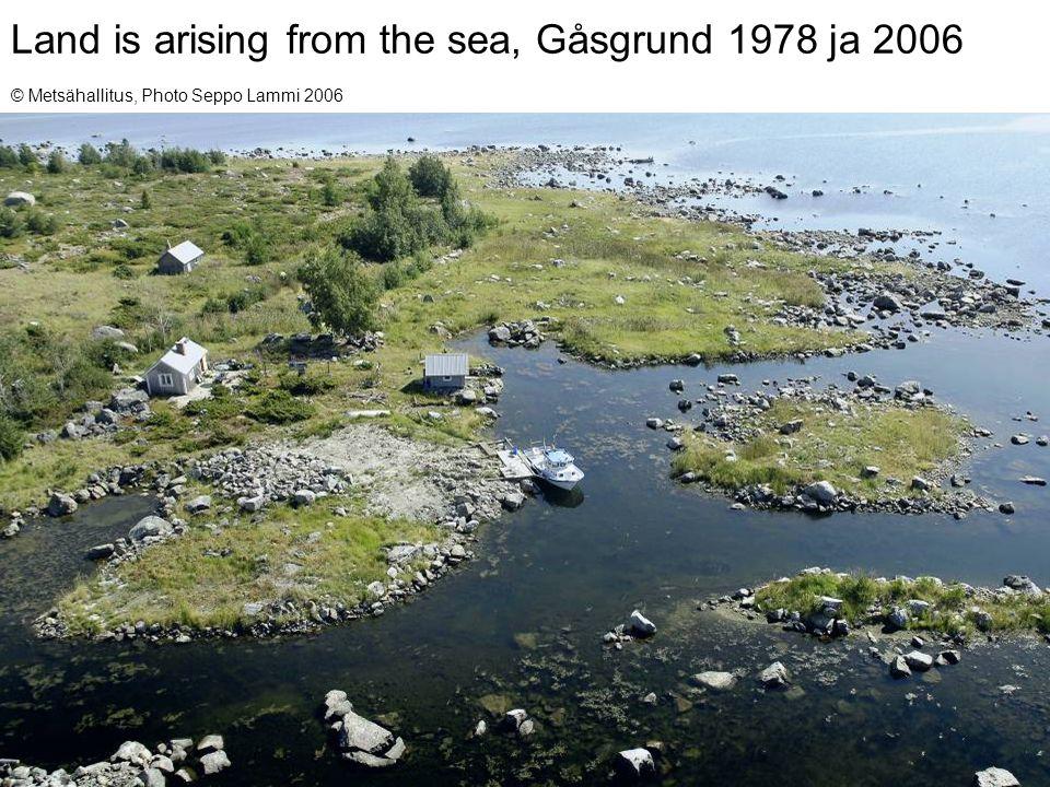 14Keijo Nenonen and Olli Breilin, MAEGS-15, 16.9.2007 Land is arising from the sea, Gåsgrund 1978 ja 2006 © Metsähallitus, Photo Seppo Lammi 2006