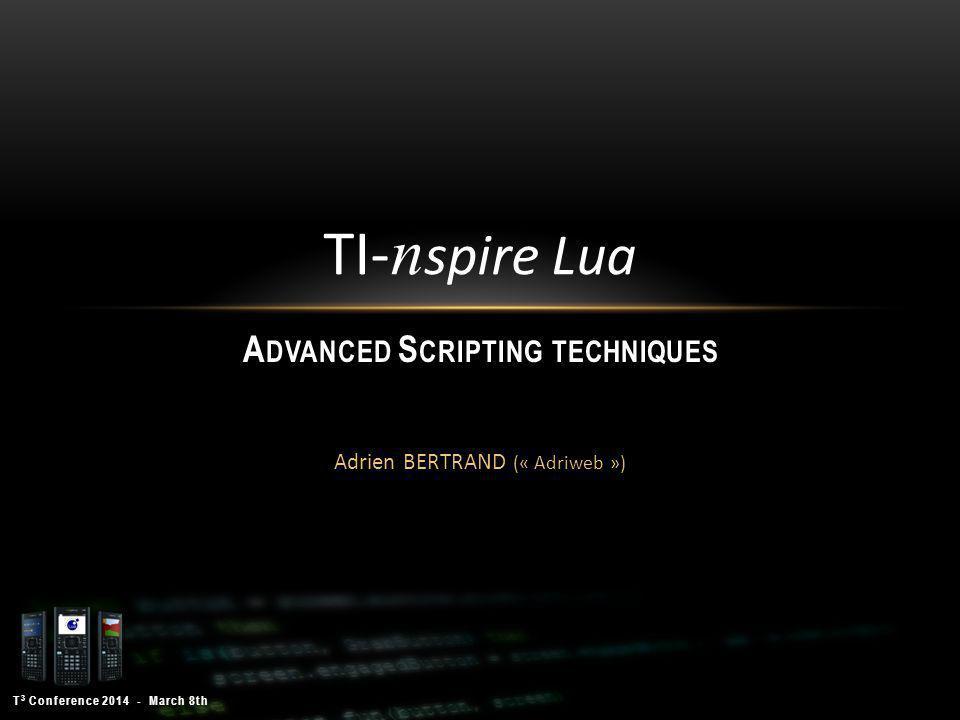 T 3 Conference 2014 - March 8th Adrien Bertrand 32 A N IDE : I NTELLIJ IDEA