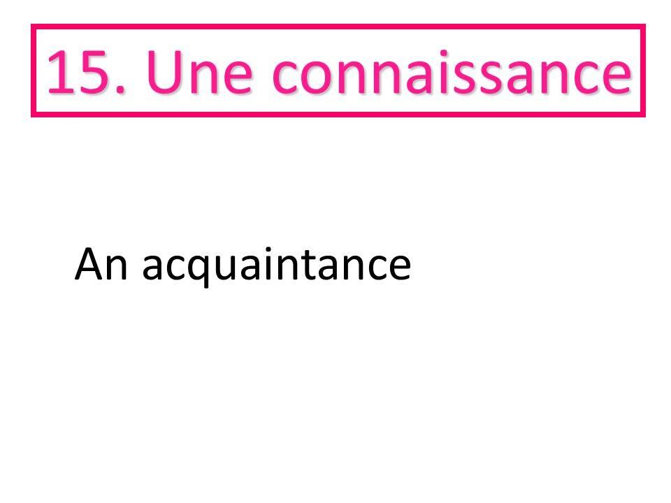 15. Une connaissance An acquaintance