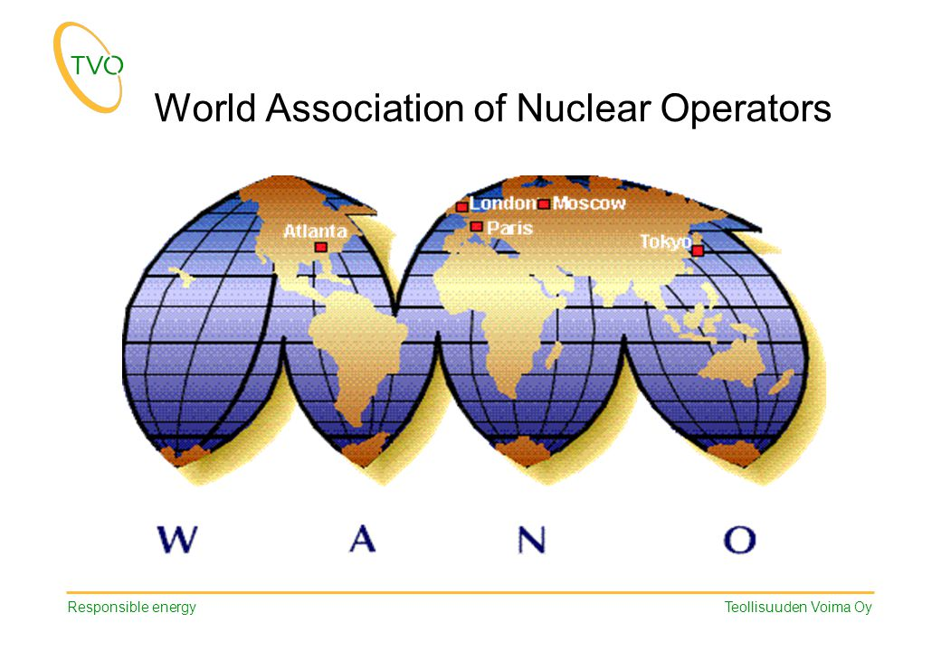 Responsible energy Teollisuuden Voima Oy World Association of Nuclear Operators