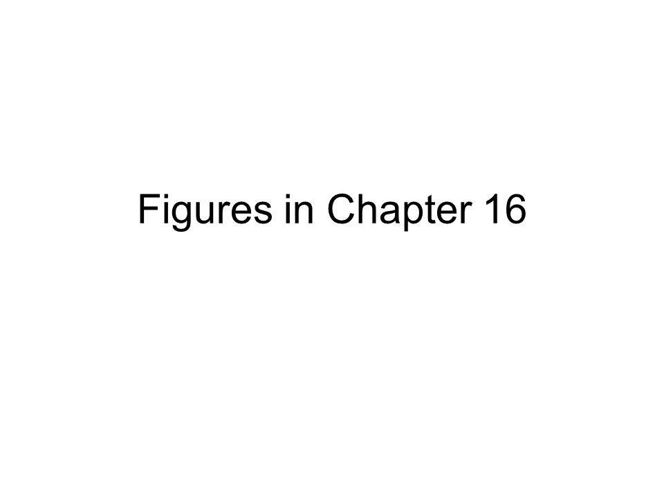 Figures in Chapter 16