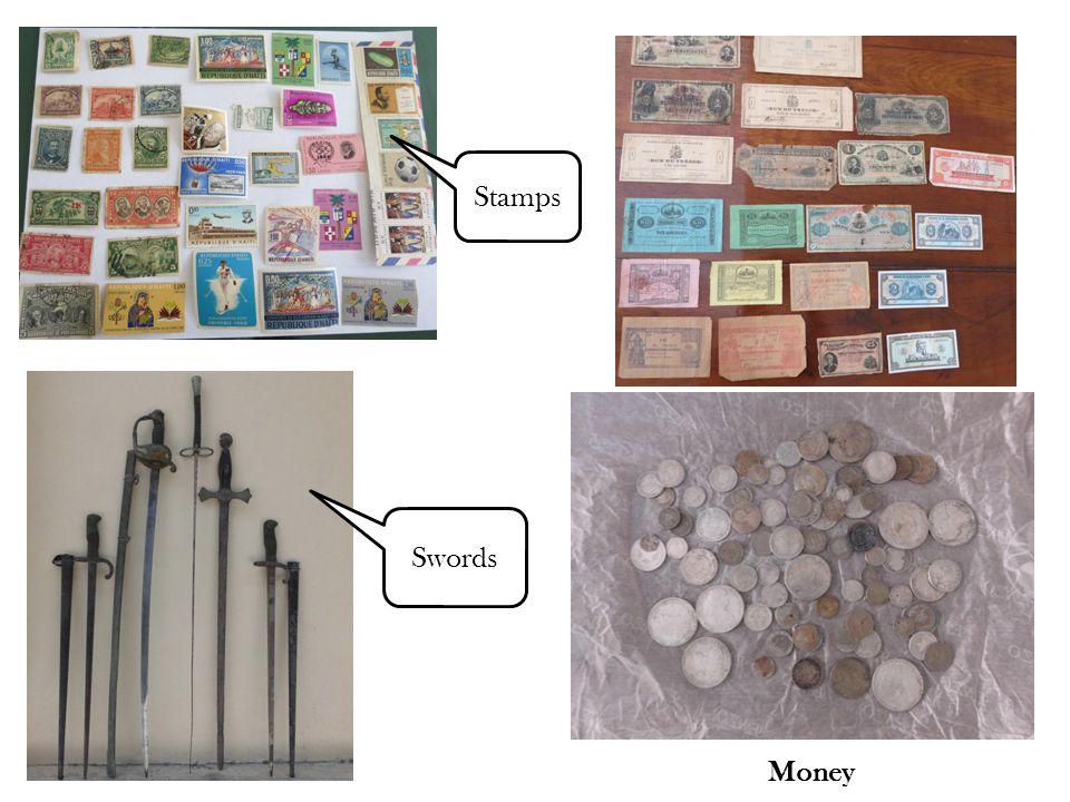 Money Swords Stamps