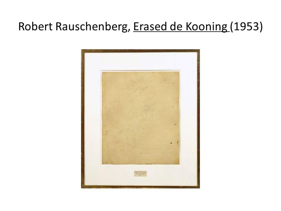 Robert Rauschenberg, Erased de Kooning (1953)