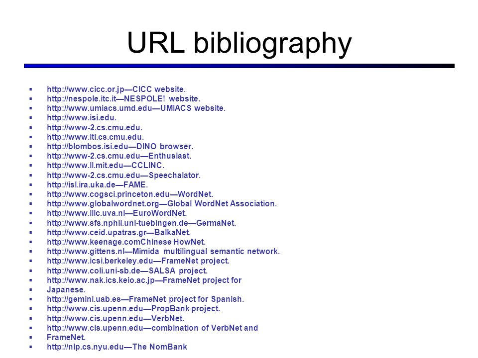 URL bibliography  http://www.cicc.or.jp—CICC website.
