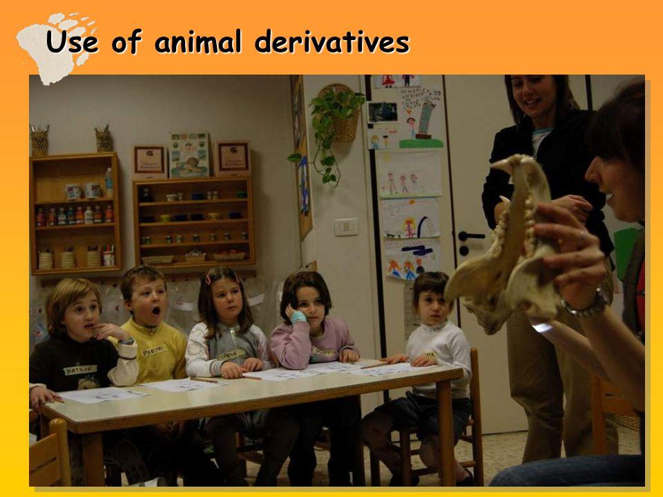 Use of animal derivatives