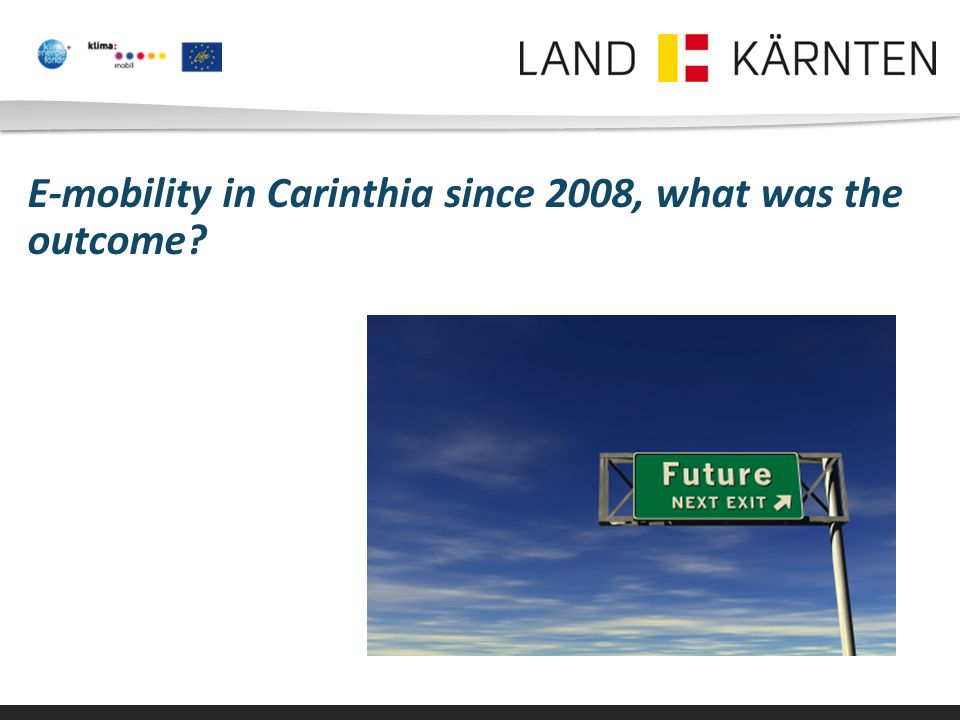 E-mobility in Carinthia since 2008, what was the outcome