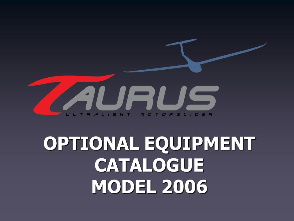 OPTIONAL EQUIPMENT CATALOGUE MODEL 2006