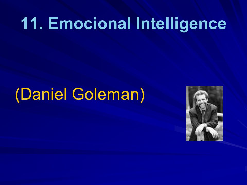 11. Emocional Intelligence (Daniel Goleman)