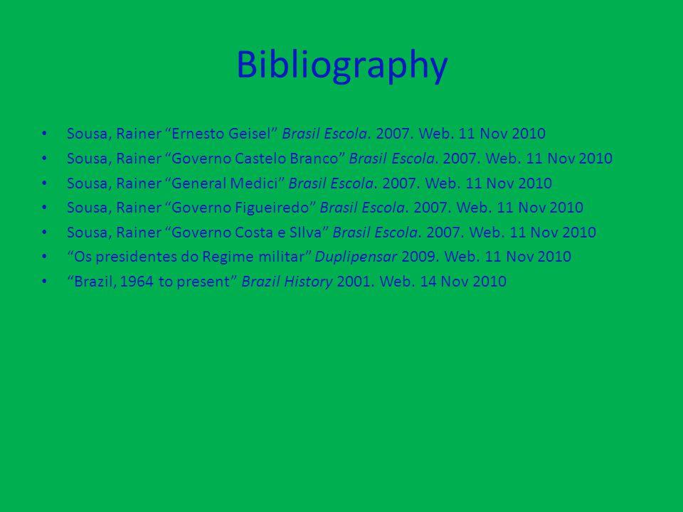 Bibliography Sousa, Rainer Ernesto Geisel Brasil Escola.