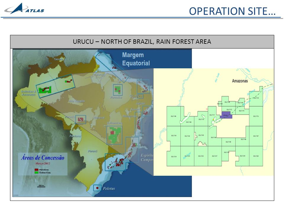 URUCU – NORTH OF BRAZIL, RAIN FOREST AREA OPERATION SITE…