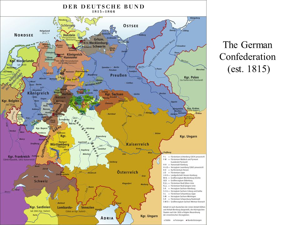 The German Confederation (est. 1815)