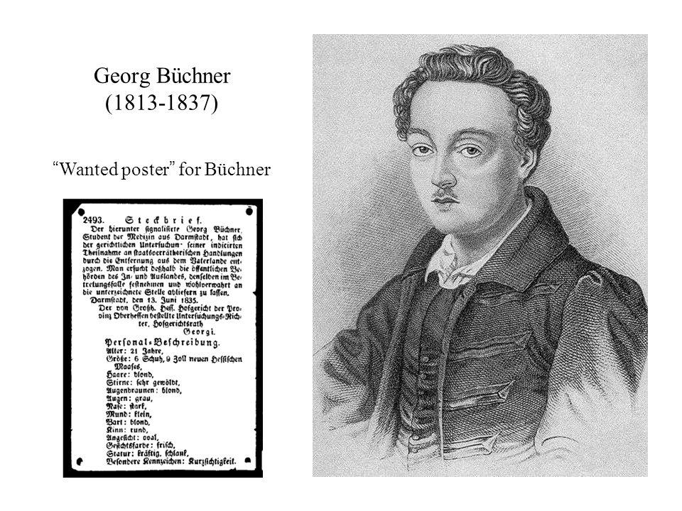 """Georg Büchner (1813-1837) """"Wanted poster"""" for Büchner"""