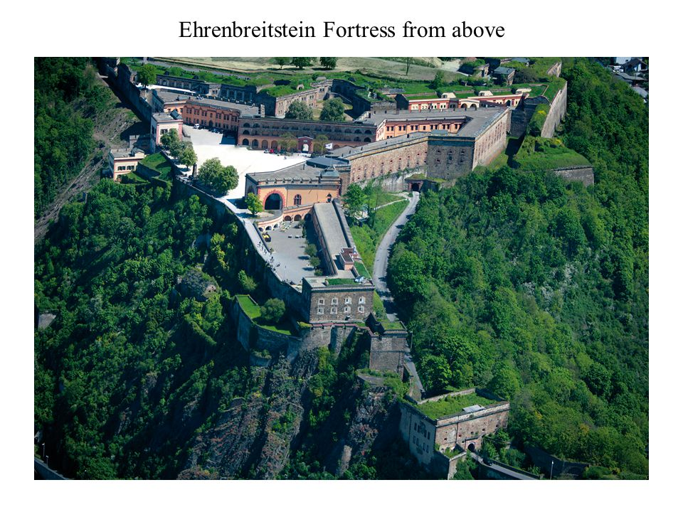Ehrenbreitstein Fortress from above