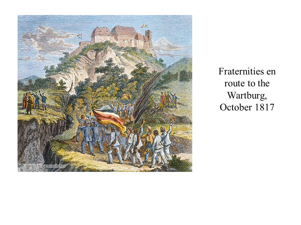 Fraternities en route to the Wartburg, October 1817