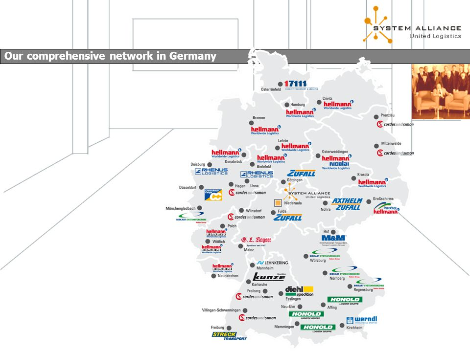 Our comprehensive network in Germany