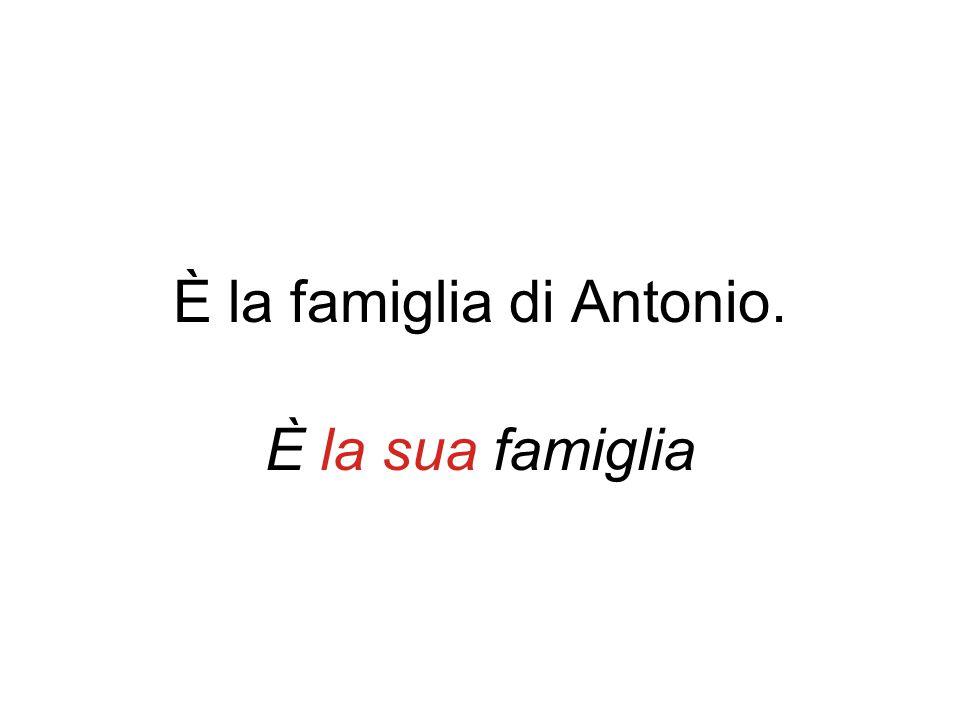 È la famiglia di Antonio. È la sua famiglia