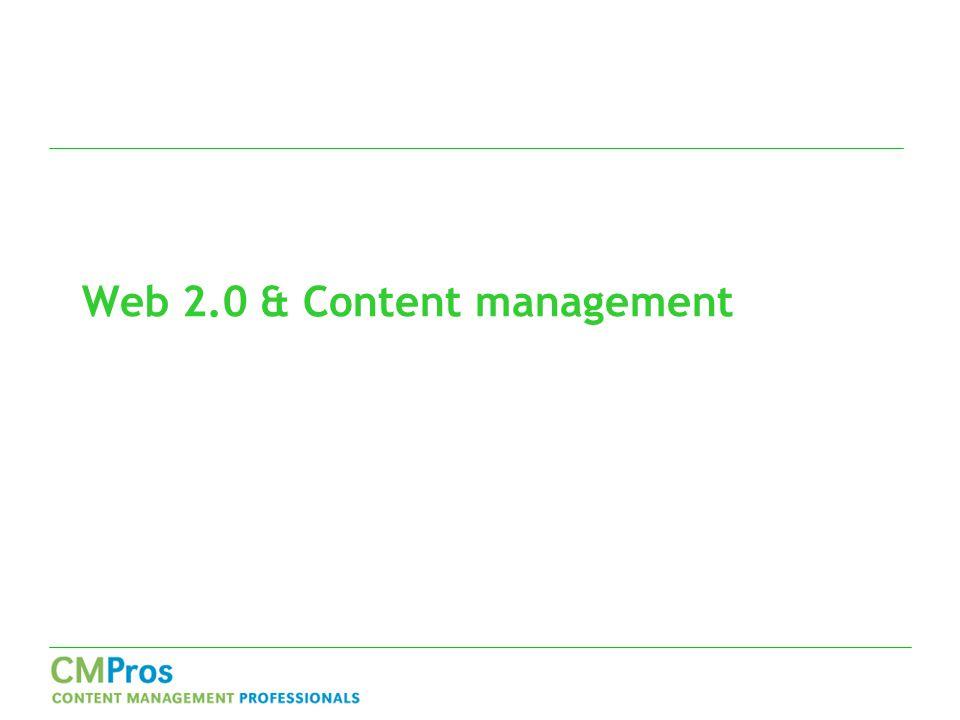Web 2.0 & Content management