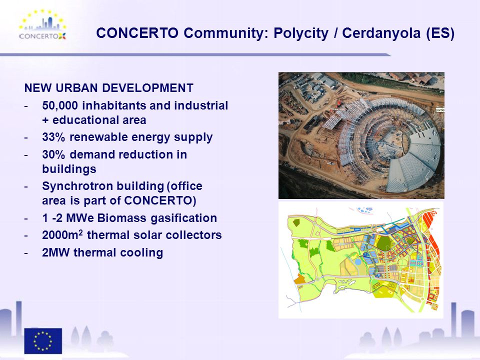 CONCERTO Communities: Knowledge Management -Please inform us about the current status of your demonstration projects.
