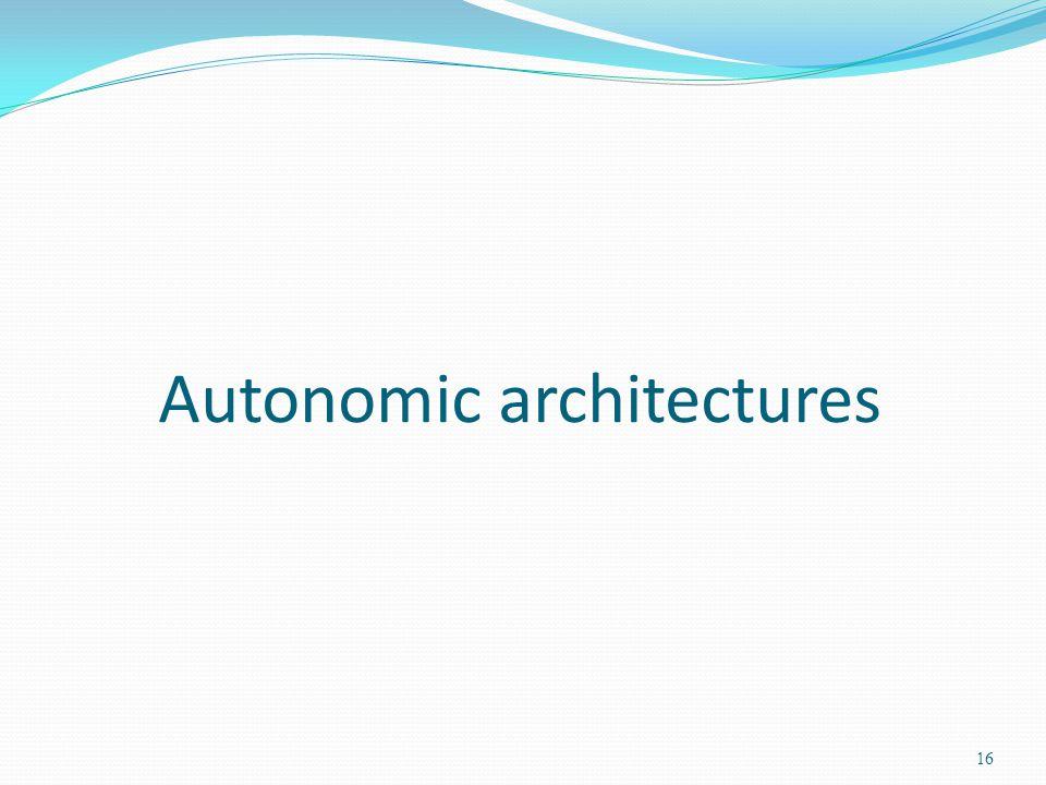 Autonomic architectures 16