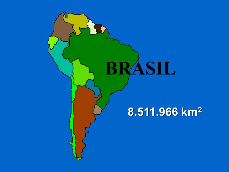 BRASIL 8.511.966 km 2